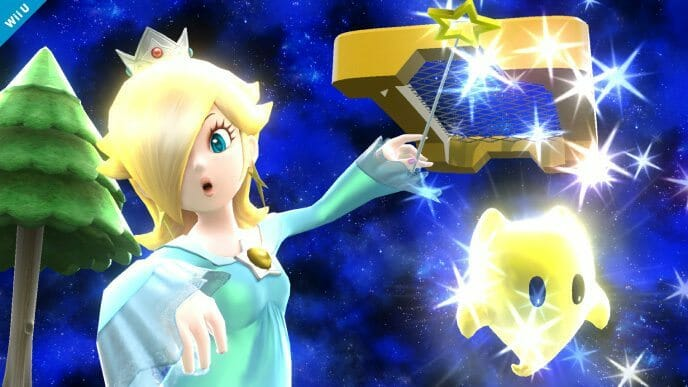 Rosalina and Luma in Super Smash Bros.