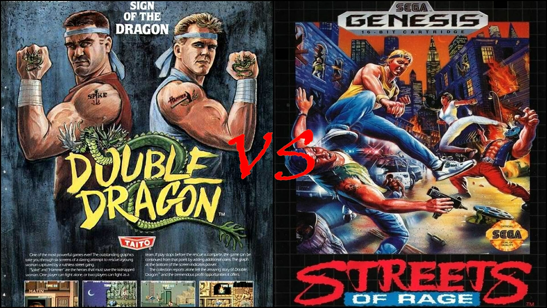 Gaming Classic Clash Streets Of Rage Vs Double Dragon