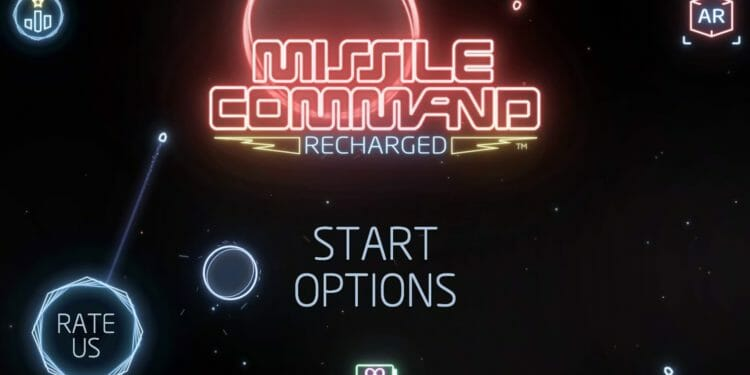 Missile Command Title Screen